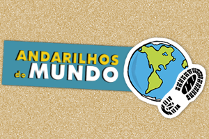 """Andarilhos do Mundo"" Logo"