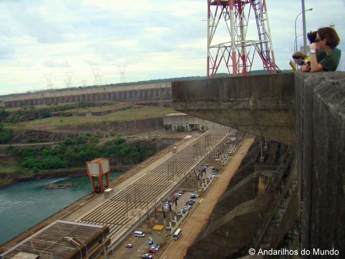 no topo do reservatorio de itaipu blogturfoz