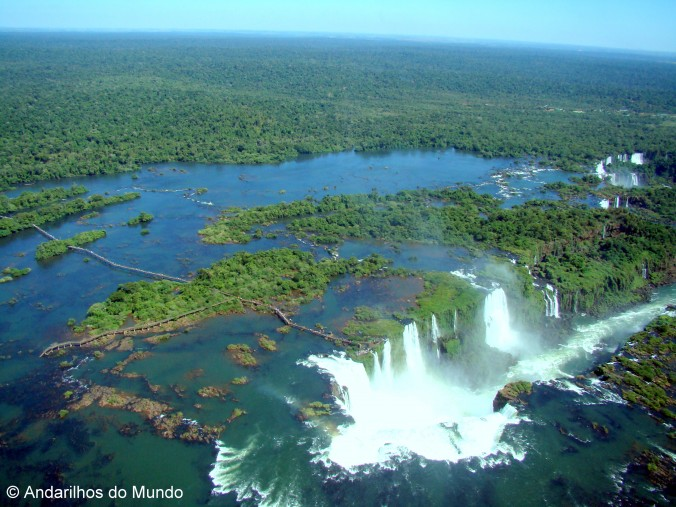 Vista aerea das Cataratas do Iguaçu