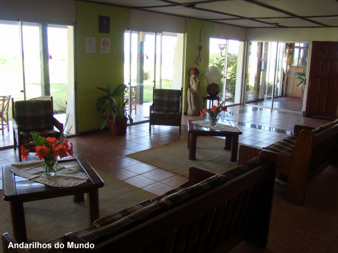 Lounge do hotel tupa ilha de pascoa