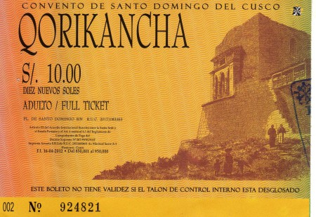 ingresso incluso no city tour em cusco - qorikancha