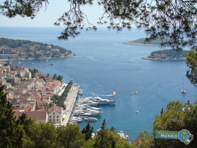 Ilha de Hvar Croacia vista do porto